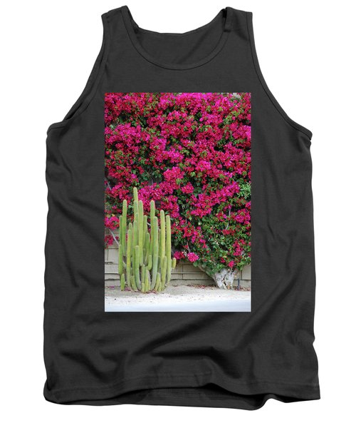 Palm Desert Blooms Tank Top