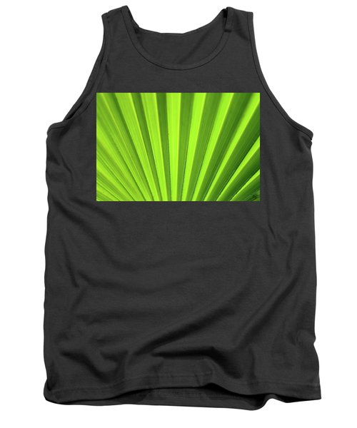 Palm Leaf Abstract Tank Top