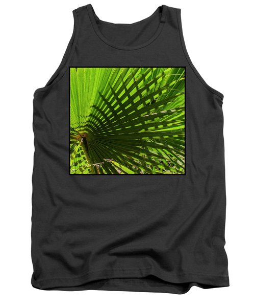 Tank Top featuring the photograph Palm Pattern No.1 by Mark Myhaver