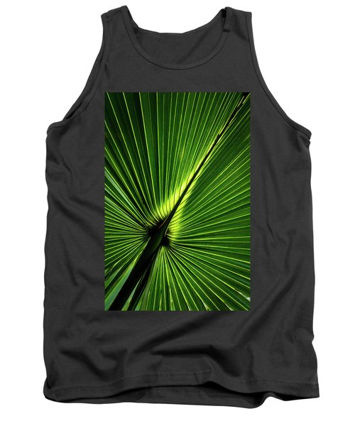Palm Tree With Back-light Tank Top