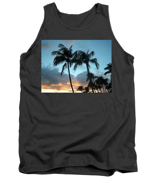 Palm Trees At Sunset Tank Top