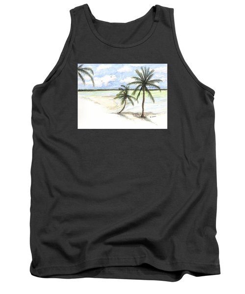 Palm Trees On The Beach Tank Top