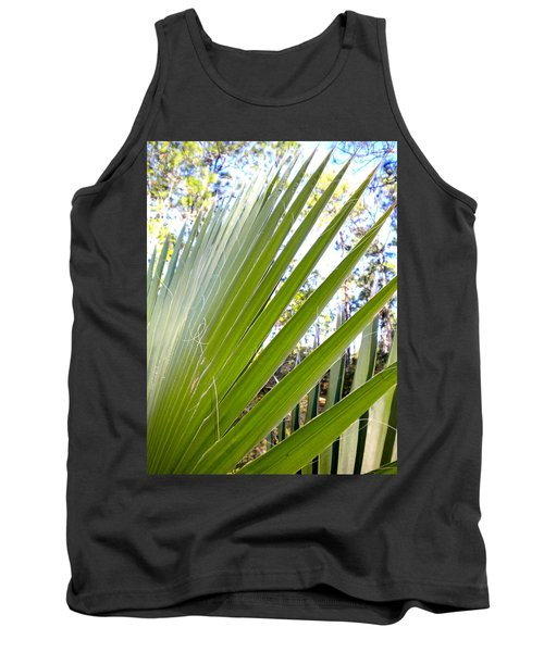 Tank Top featuring the painting Palmetto 1 by Renate Nadi Wesley