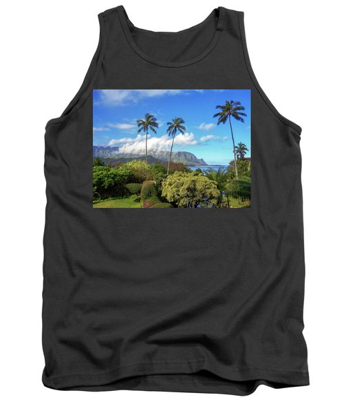 Palms At Hanalei Tank Top by James Eddy