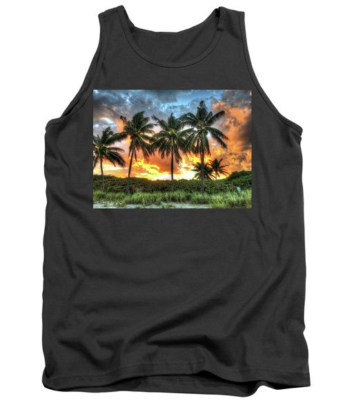 Tank Top featuring the photograph Palms On Fire by Steven Lebron Langston