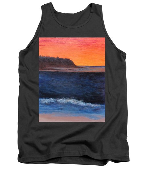 Tank Top featuring the painting Palos Verdes Sunset by Jamie Frier