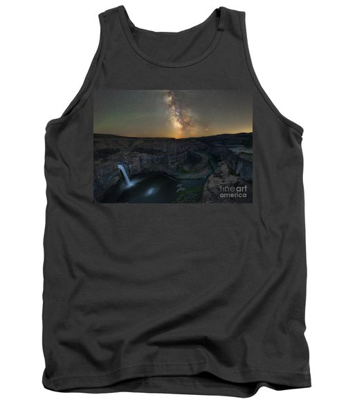 Palouse Falls Milky Way Galaxy  Tank Top