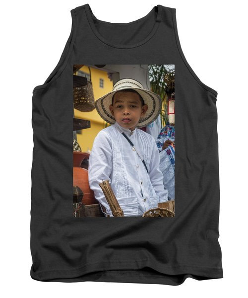 Panamanian Boy On Float In Parade Tank Top