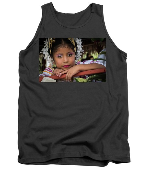Panamanian Girl On Float In Parade Tank Top
