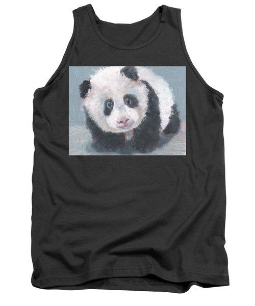 Tank Top featuring the painting Panda For Panda by Jessmyne Stephenson