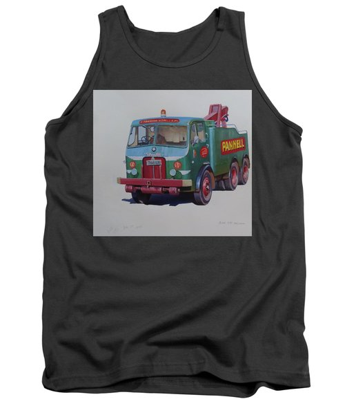 Tank Top featuring the painting Pannell Leyland Wrecker. by Mike Jeffries