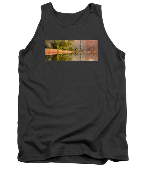Panorama Of Cabin By The Lake Tank Top by Shelby  Young