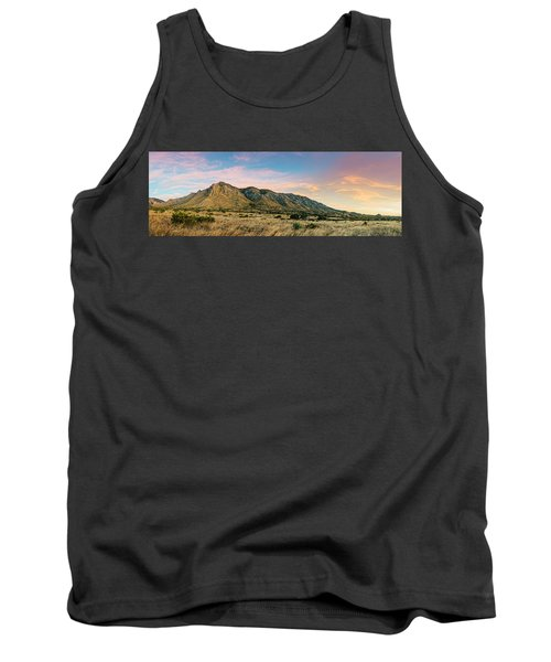 Panorama Of Hunter Peak And Frijole Ridge At Guadalupe Mountains National Park - West Texas Tank Top