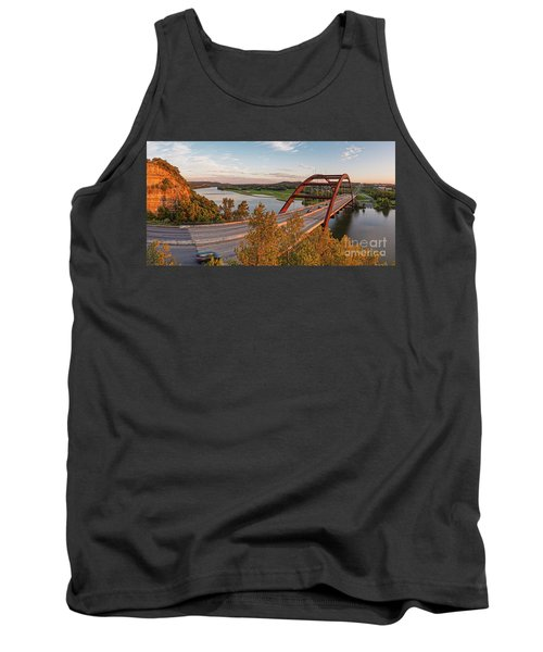 Panorama Of Lake Austin And Texas Hill Country From Highway 360 Overlook - Austin Texas Tank Top