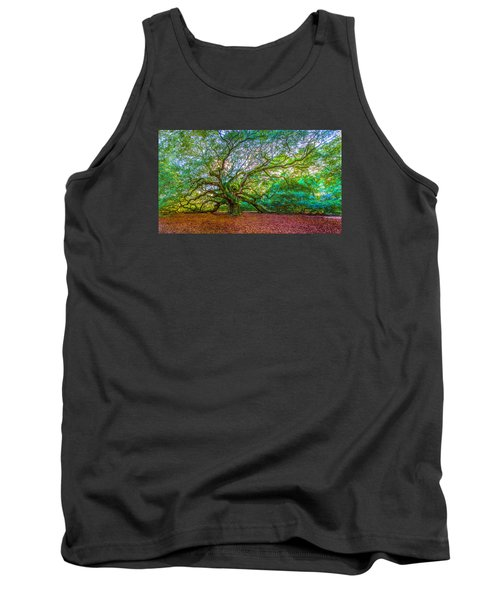 Panoramic Angel Oak Tree Charleston Sc Tank Top