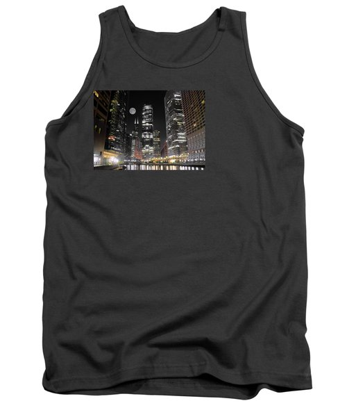 Panoramic Lakefront View In Chicago Tank Top by Frozen in Time Fine Art Photography