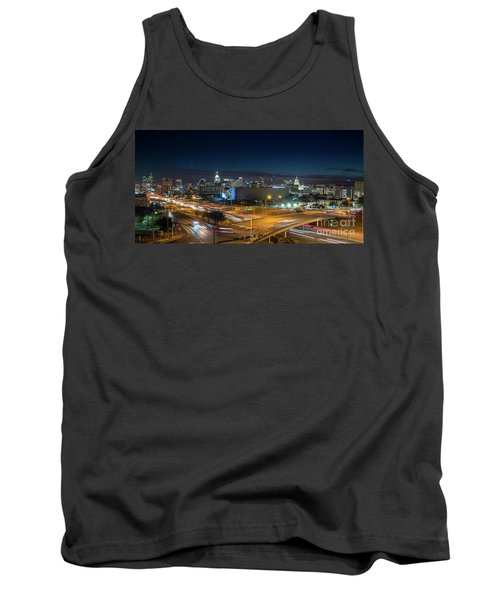 Panoramic View Of Busy Austin Texas Downtown Tank Top