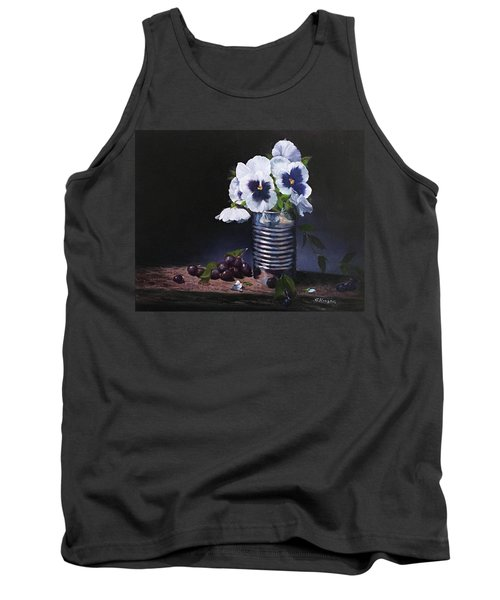 Pansies In A Can Tank Top