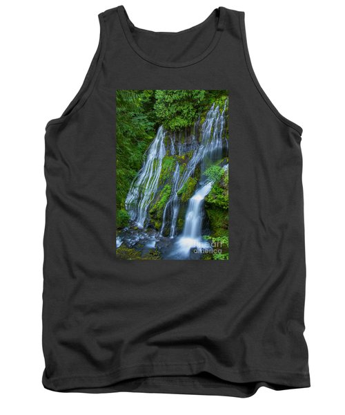 Panther Creek Falls Summer Waterfall 1 Tank Top