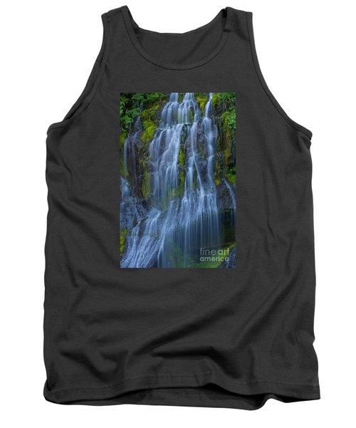 Panther Creek Falls Summer Waterfall -close 2 Tank Top