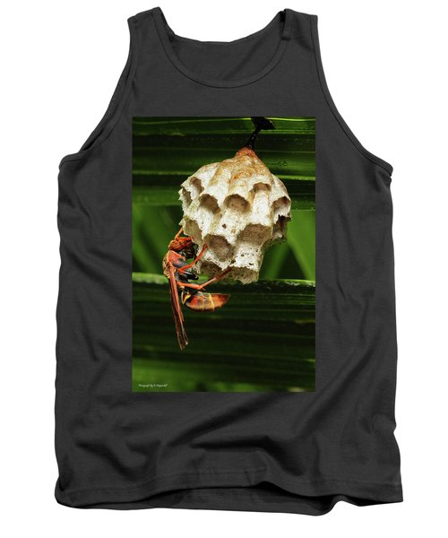 Paper Wasps 00666 Tank Top by Kevin Chippindall