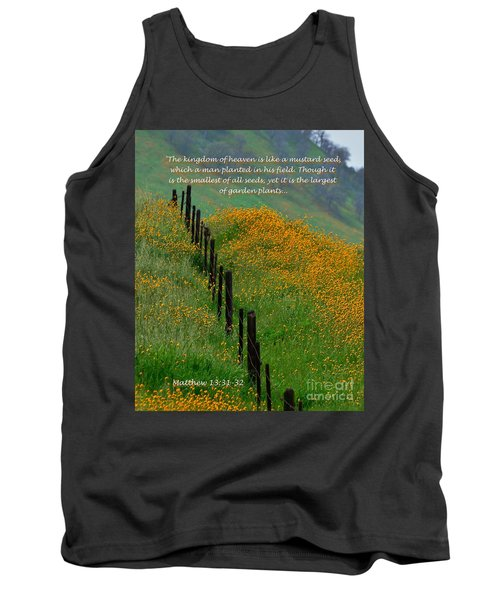 Tank Top featuring the photograph Parable Of The Mustard Seed by Debby Pueschel