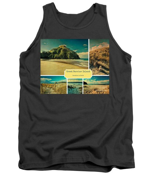 Paradise At The Barrier Tank Top by Karen Lewis