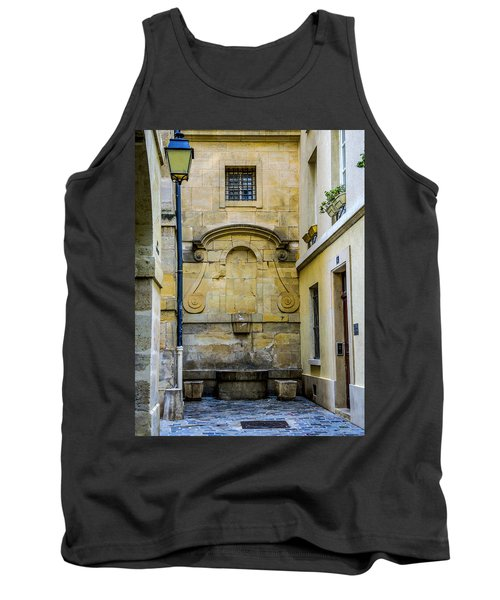 Tank Top featuring the photograph Paris Corner Le Marais by Sally Ross