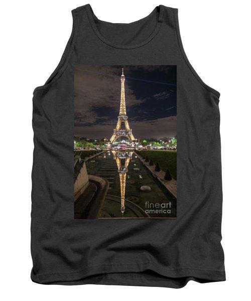 Paris Eiffel Tower Dazzling At Night Tank Top by Mike Reid