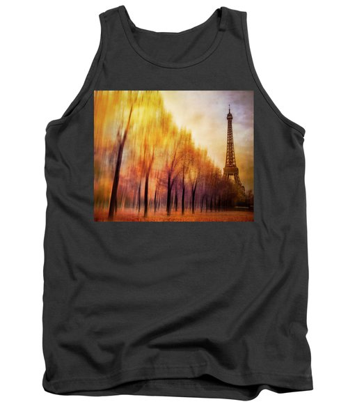Paris In Autumn Tank Top by Marty Garland