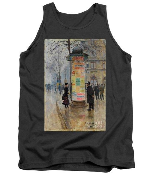 Tank Top featuring the photograph Parisian Street Scene by John Stephens