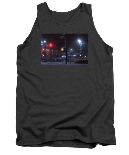 Park Avenue And E46th Street In The Late Night Snow Storm Tank Top