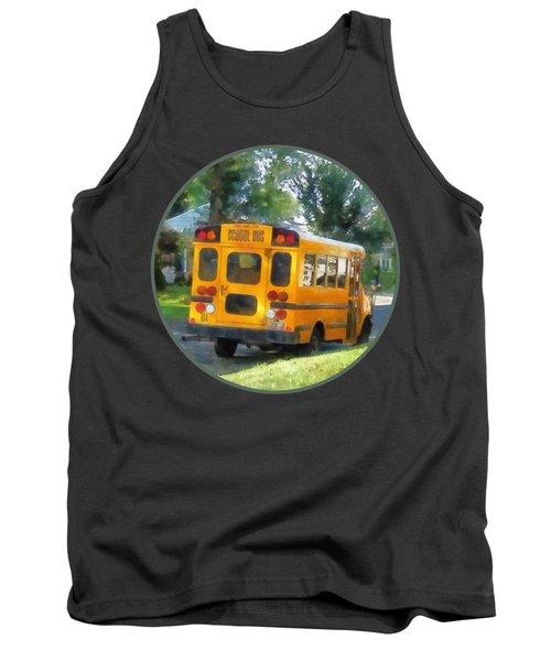 Parked School Bus Tank Top by Susan Savad