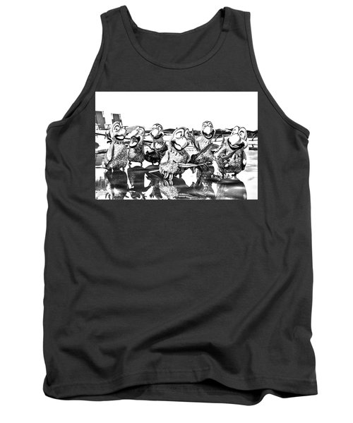 Parrots In Paradise Bw Tank Top