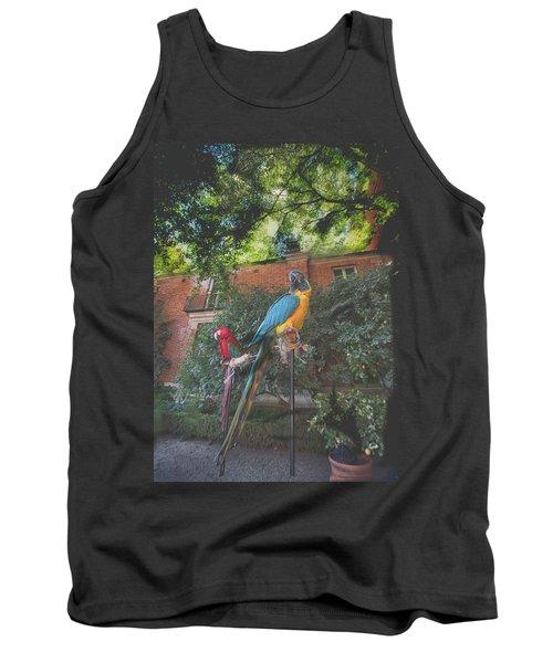 Parrots In The Garden Tank Top