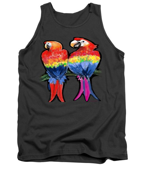 Tank Top featuring the painting Parrots by Kevin Middleton