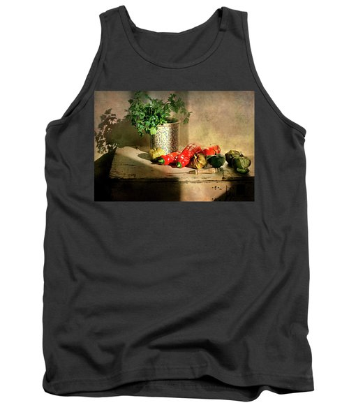 Tank Top featuring the photograph Parsley And Peppers by Diana Angstadt