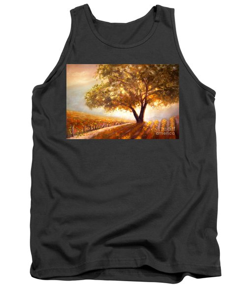 Tank Top featuring the painting Paso Robles Golden Oak by Michael Rock