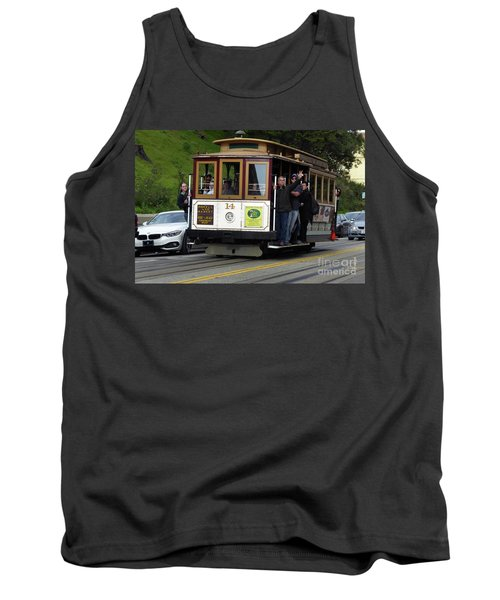 Tank Top featuring the photograph Passenger Waves From A Cable Car by Steven Spak