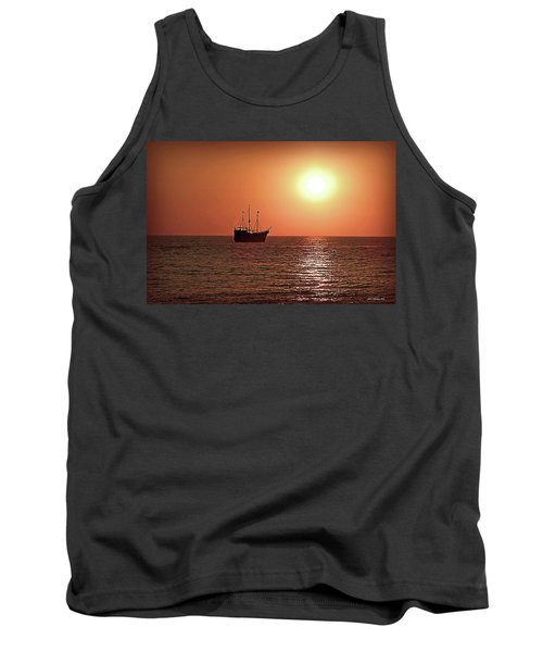 Tank Top featuring the photograph Passing By In Calm Waters by Joan  Minchak