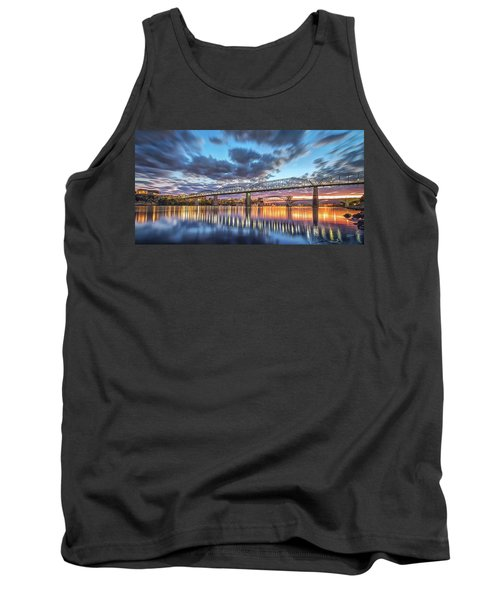 Passing Clouds Above Chattanooga Pano Tank Top by Steven Llorca