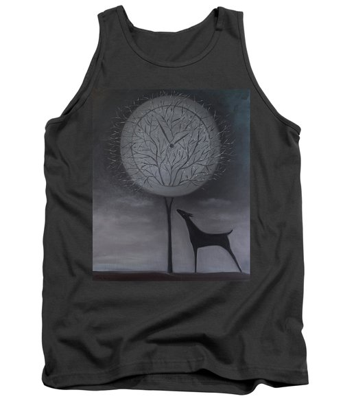 Tank Top featuring the painting Passing Time by Tone Aanderaa