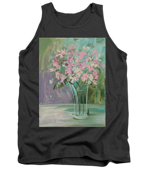 Pastel Blooms Tank Top by Terri Einer