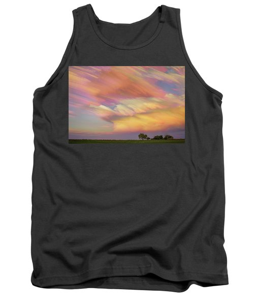 Tank Top featuring the photograph Pastel Painted Big Country Sky by James BO Insogna