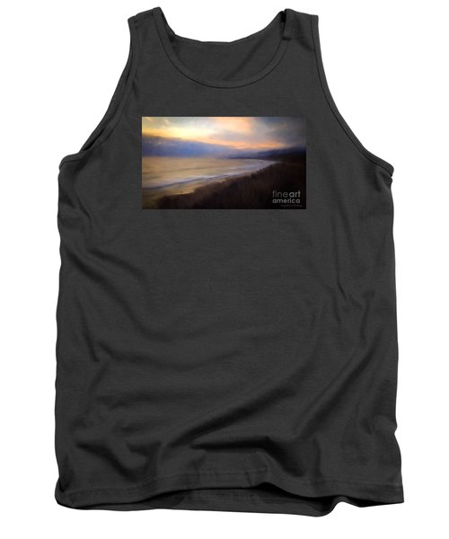 Tank Top featuring the photograph Pastel Sunset by John A Rodriguez