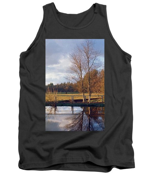Tank Top featuring the photograph Pasture Pond by Laurie Stewart