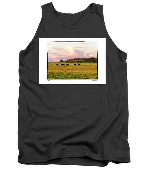 Tank Top featuring the photograph Pasture by R Thomas Berner