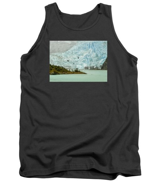 Tank Top featuring the photograph Patagonia Glacier by Alan Toepfer