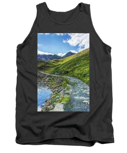 Tank Top featuring the photograph Path To Snowdon by Ian Mitchell