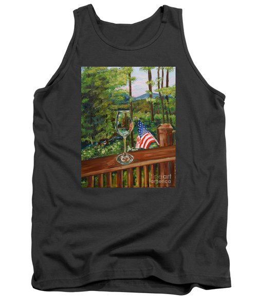 Star Spangled Wine - Fourth Of July - Blue Ridge Mountains Tank Top